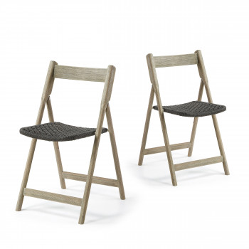 Lot de 2 chaises en bois indoor/outdoor Rowing