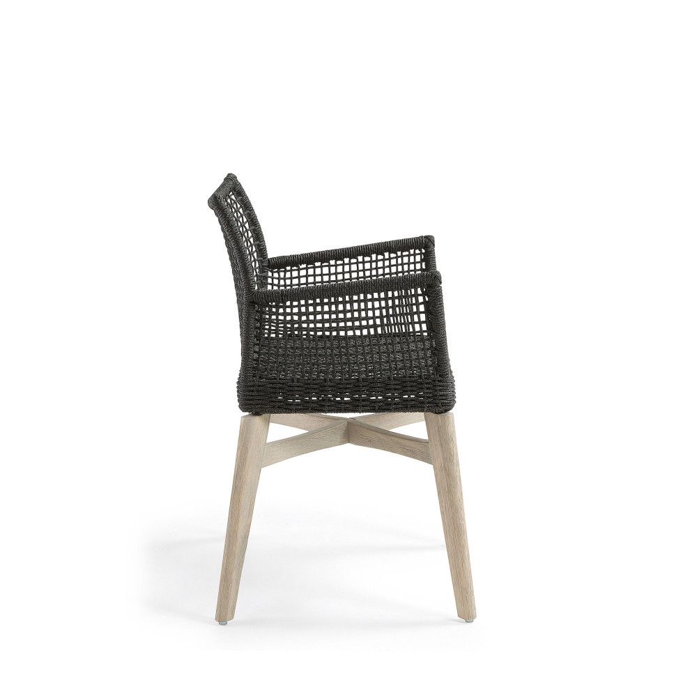 lot de 2 chaises avec accoudoirs indoor outdoor houdini by drawer. Black Bedroom Furniture Sets. Home Design Ideas