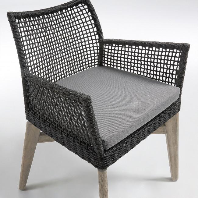 Lot de 2 chaises avec accoudoirs indoor/outdoor Houdini