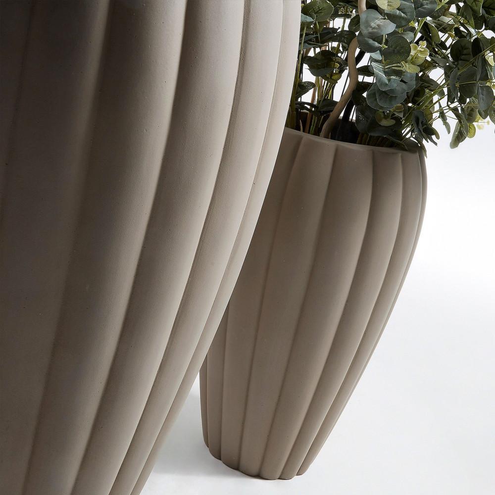 lot de 2 cache pots design ciment lisandre by drawer. Black Bedroom Furniture Sets. Home Design Ideas