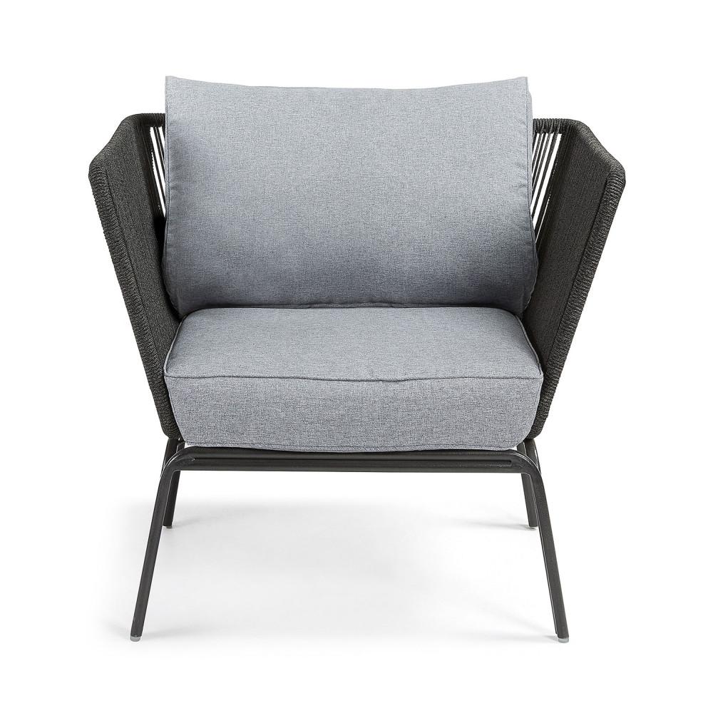 fauteuil m tal et corde indoor outdoor vernon by drawer. Black Bedroom Furniture Sets. Home Design Ideas