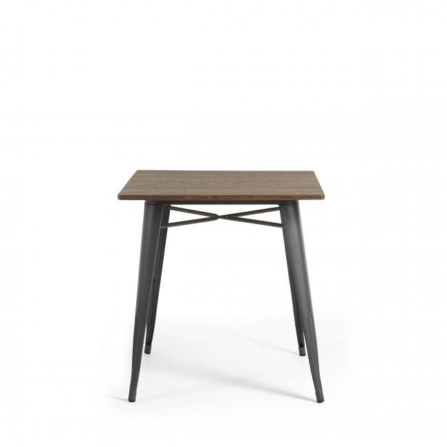 Table métal et bois indoor/outdoor 80x80 Mali