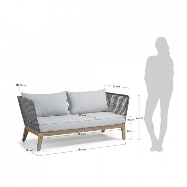 Canapé 3 places bois et corde indoor/outdoor Tucson