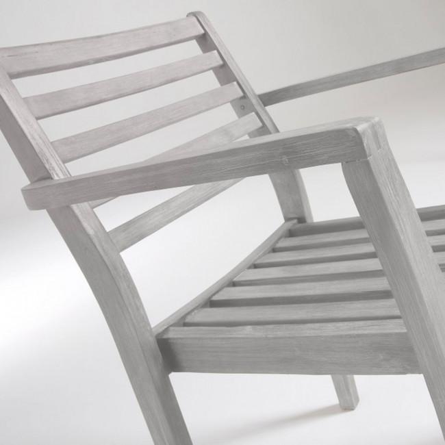Lot de 2 fauteuils bois massif contemporains Rekely
