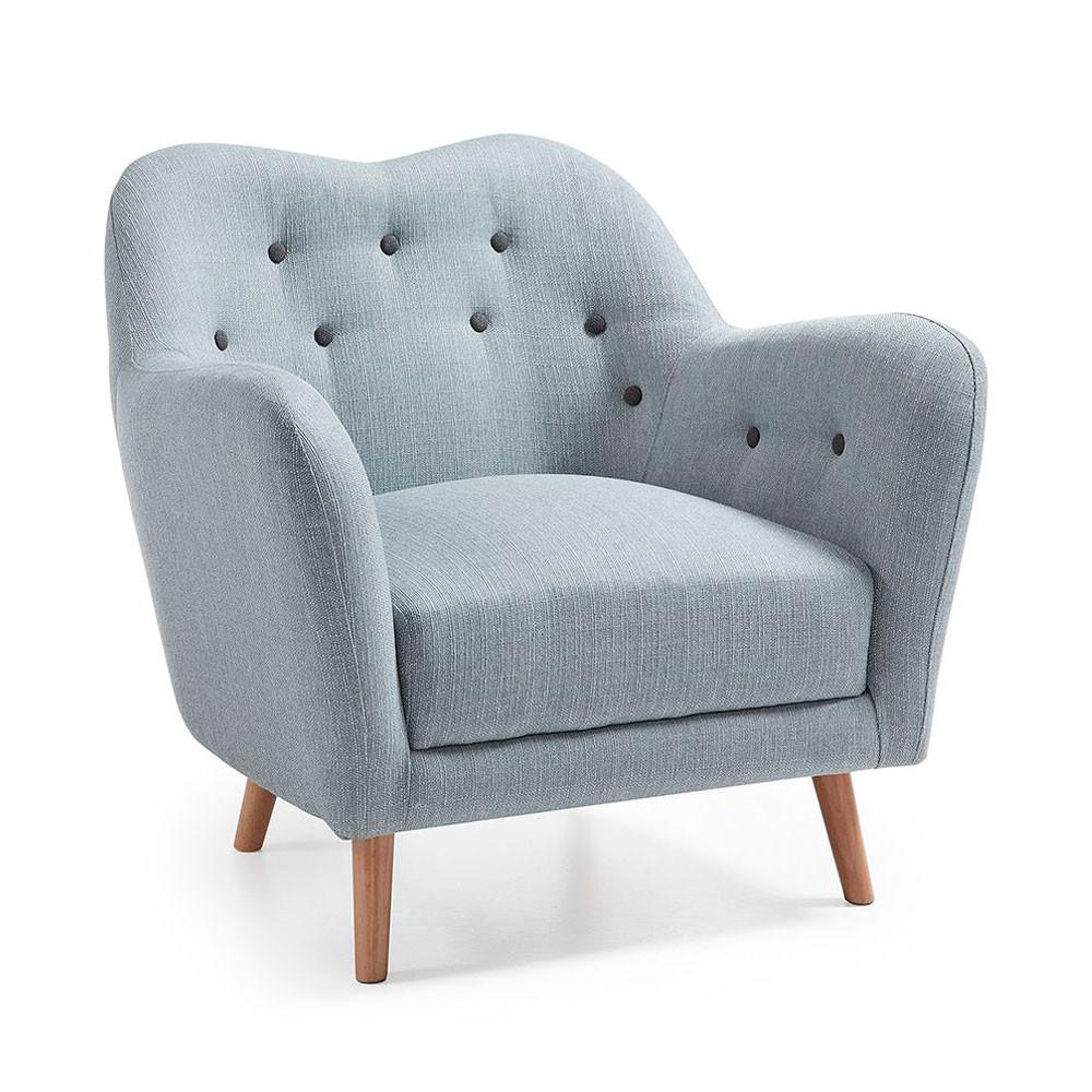 fauteuil tissu capitonn pieds en bois bobby by drawer. Black Bedroom Furniture Sets. Home Design Ideas