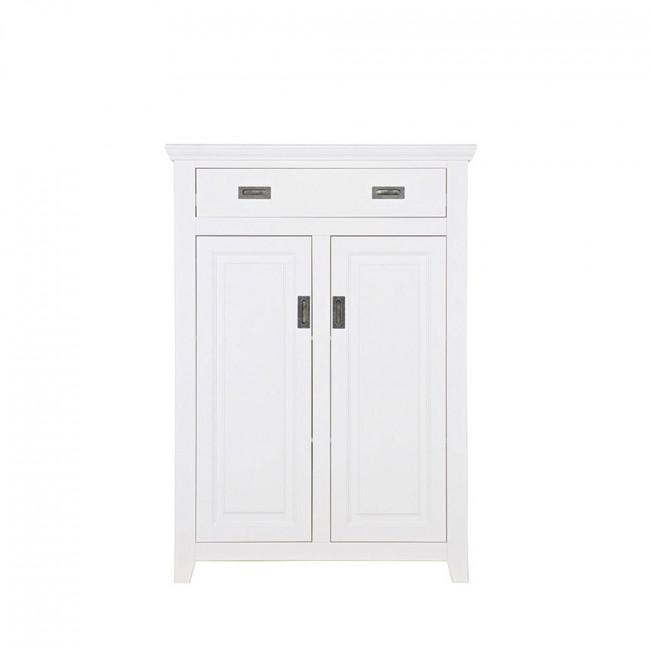 Armoire design pin massif blanc Perpignan