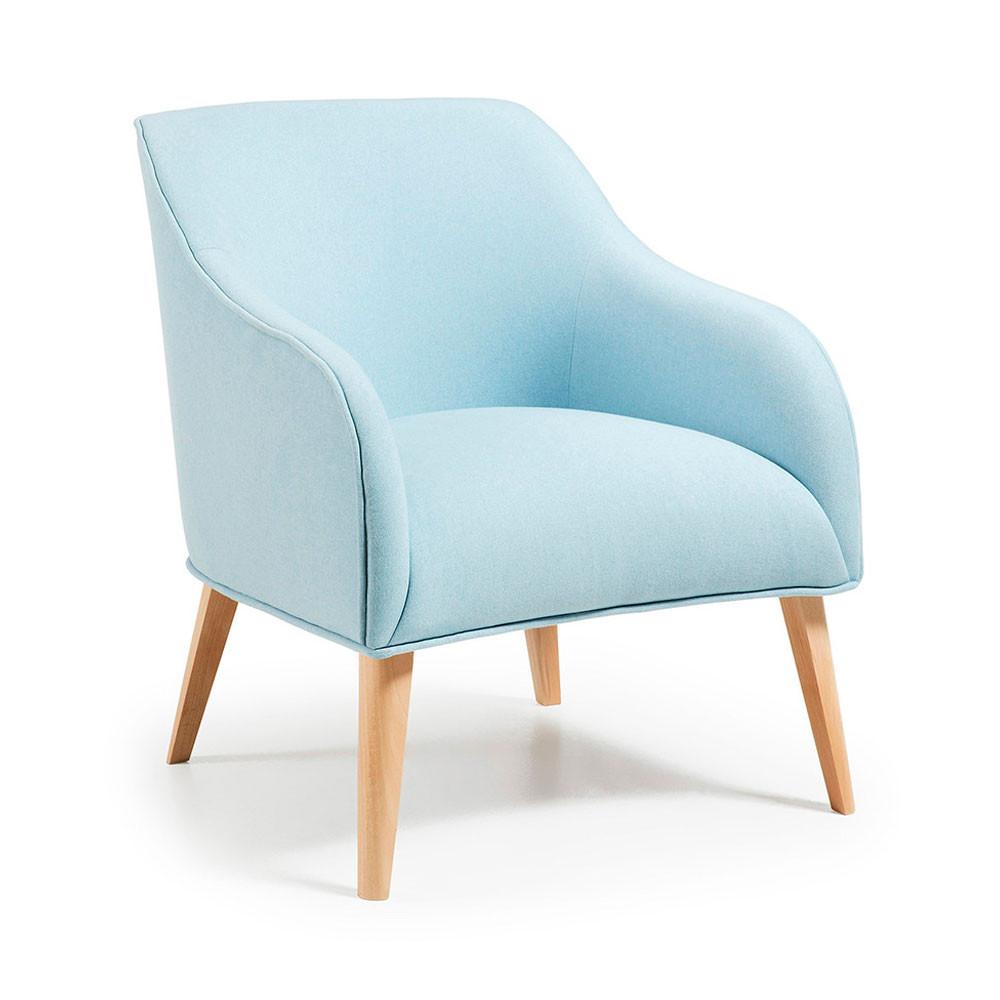 fauteuil tissu varese rembourr et bois naturel norbert by. Black Bedroom Furniture Sets. Home Design Ideas