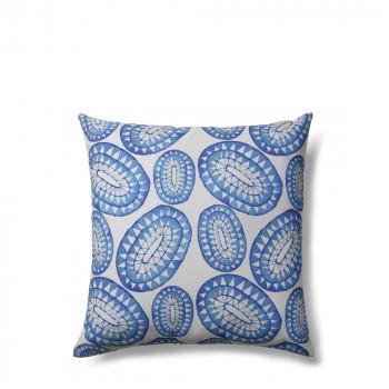 Coussin à motifs bleu 45x45 indoor/outdoor Pylos