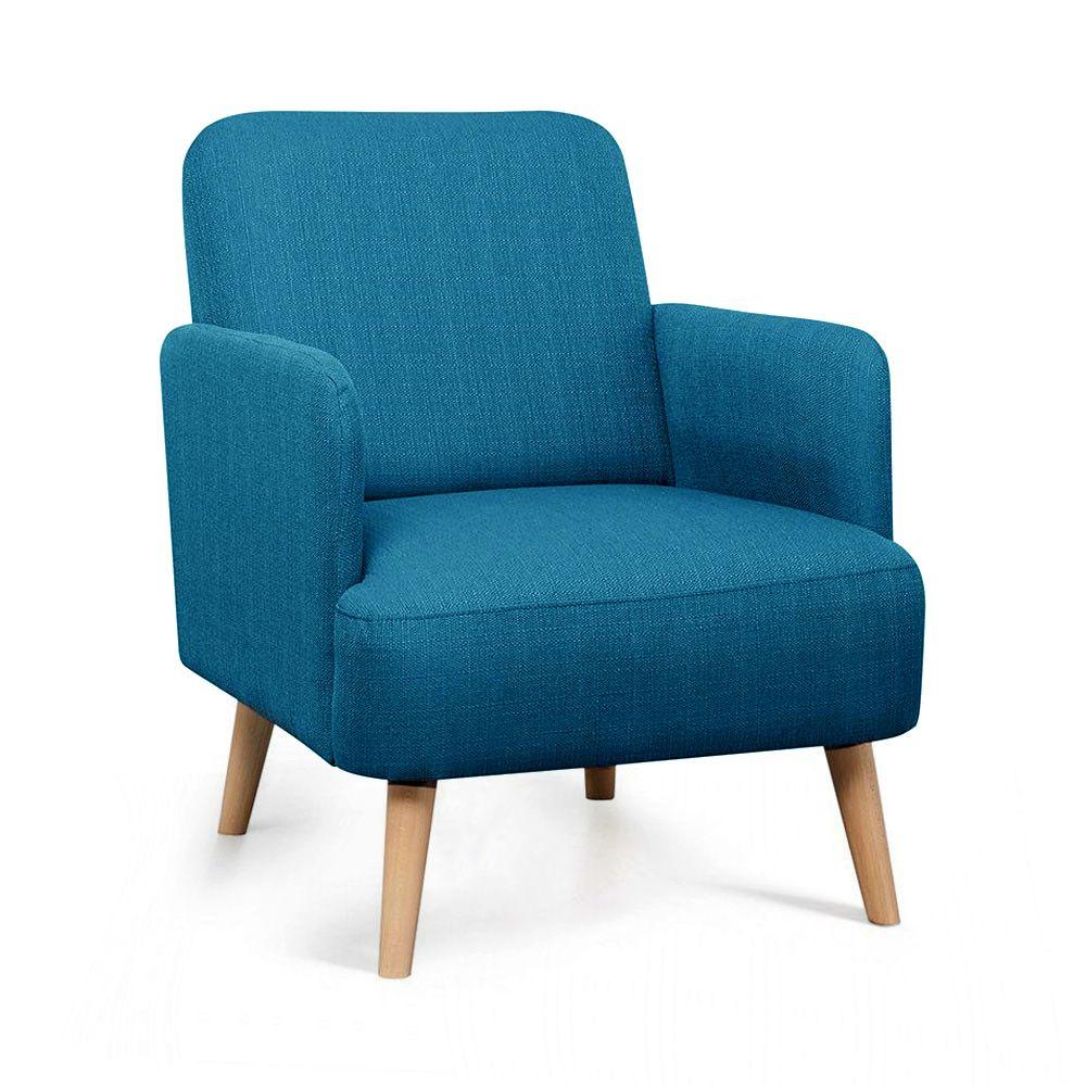 fauteuil retro design tissu et pieds bois clair brooks Résultat Supérieur 50 Beau Fauteuil Retro Photos 2017 Kae2