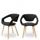 Lot de 2 chaises design Danwood Soft