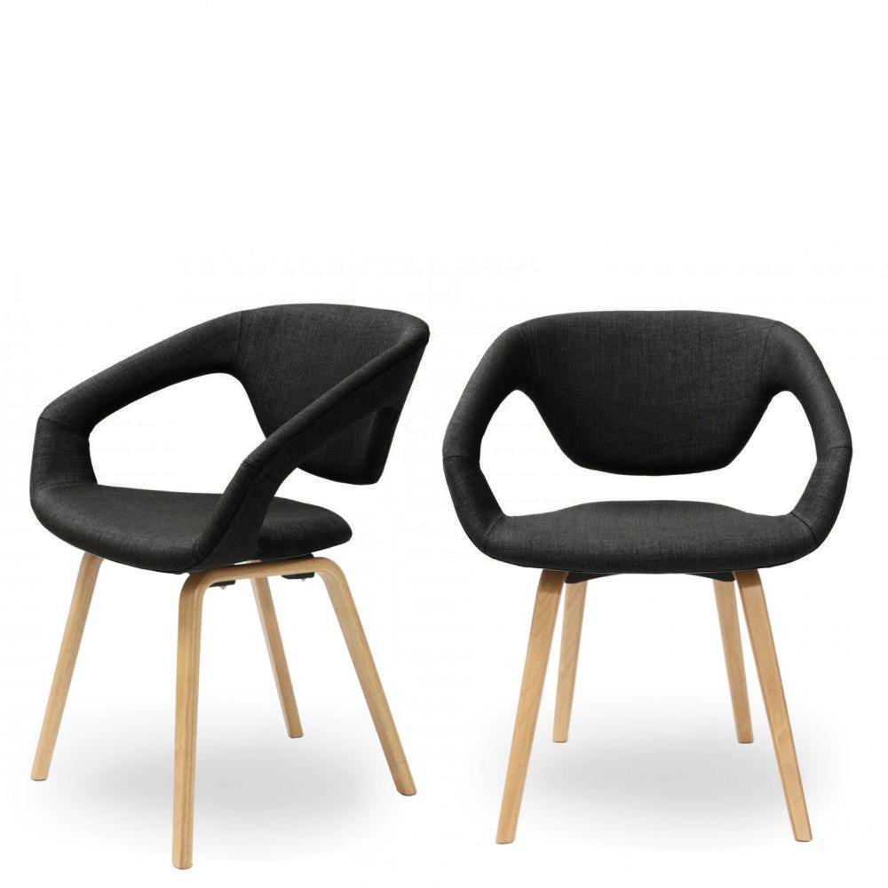 chaise design scandinave bois et tissu danwood soft drawer. Black Bedroom Furniture Sets. Home Design Ideas