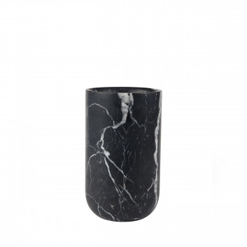 Vase en marbre Fajen Zuiver Noir