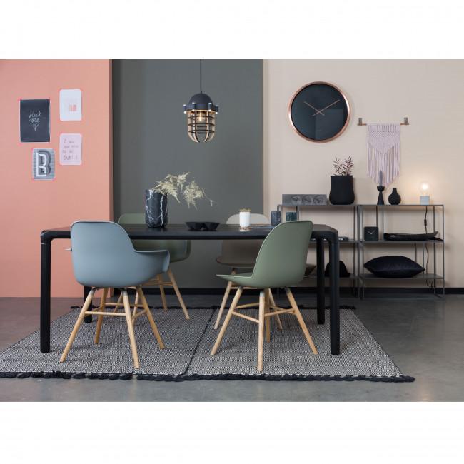 Vase en marbre Fajen Zuiver Noir ambiance salon