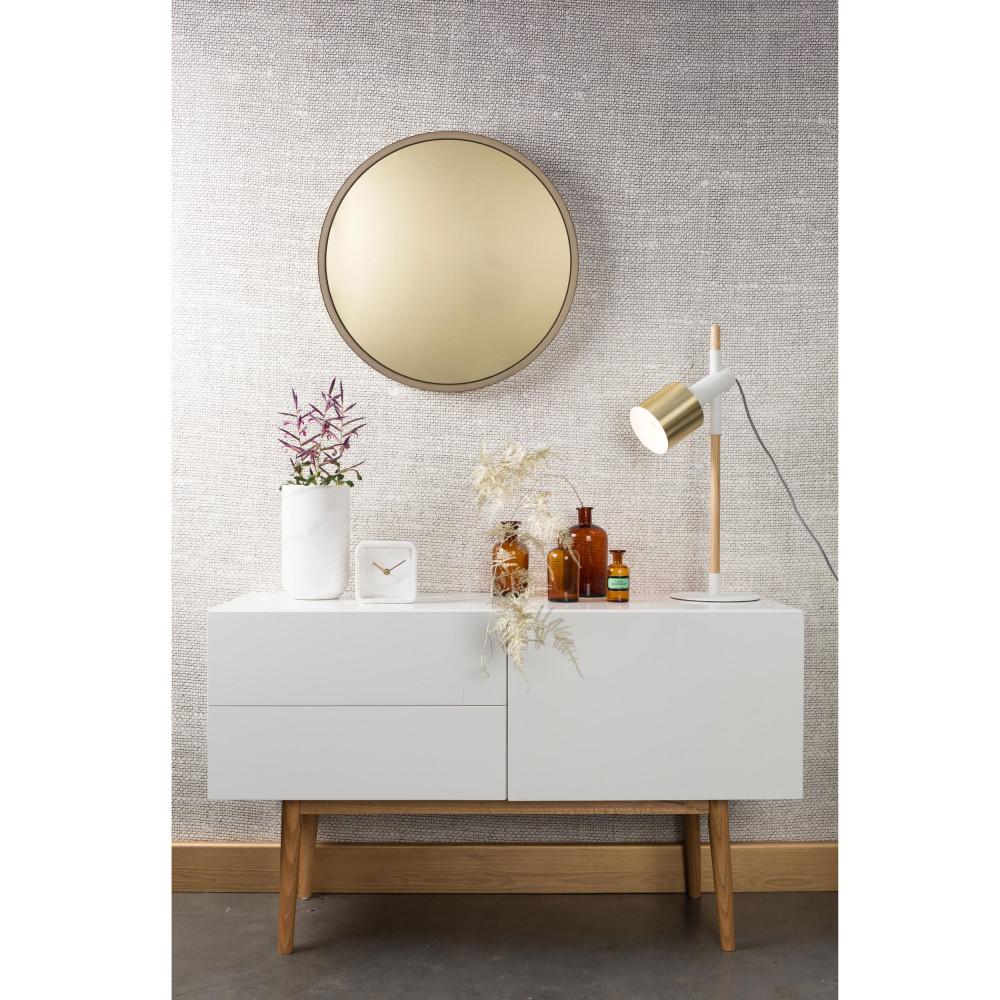 Miroir teint rond mural bandit zuiver drawer for Miroir teinte design