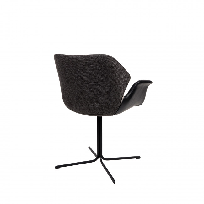 Lot de 2 chaises design Nikki Zuiver Noir