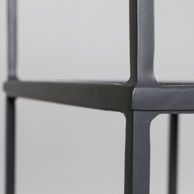 Etagère en métal gris Son Zuiver détails 3