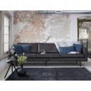 Grand canapé 4 places vintage en éco-cuir Bronco Cognac