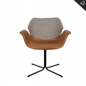 Lot de 2 chaises design Nikki Zuiver Noir