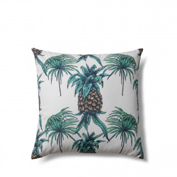 Coussin à motifs ananas indoor/outdoor Tropical