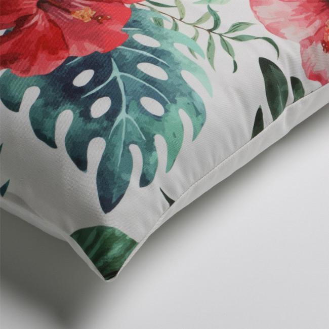Coussin à motifs hibiscus indoor/outdoor Tropical