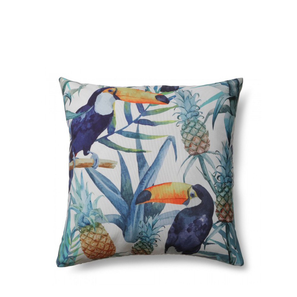 Coussin Motifs Toucan Indoor Outdoor Tropical Drawer
