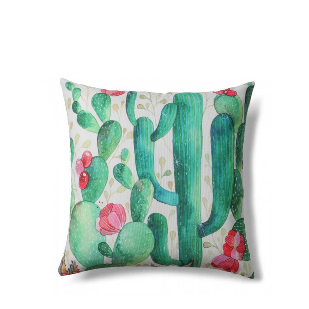 Coussin Motifs Cactus Indoor Outdoor Tropical Drawer