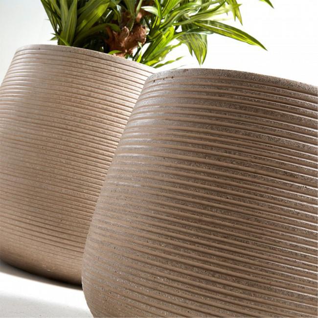 Lot de 2 cache-pots design marron Lisa