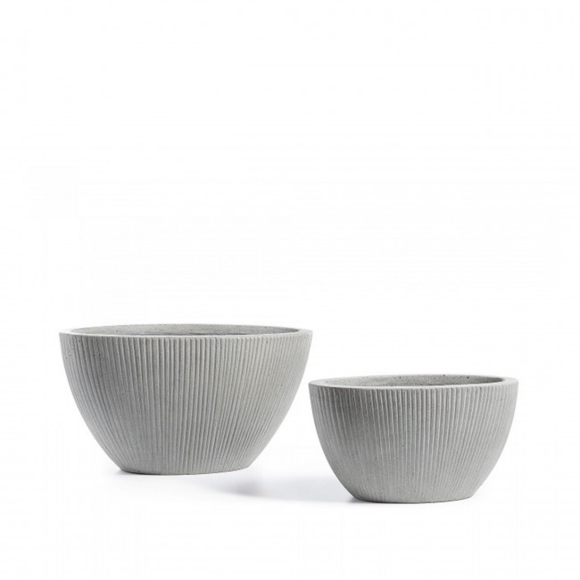 Lot de 2 cache-pots design Laura