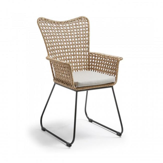 fauteuil d 39 ext rieur en rotin et m tal sanders drawer. Black Bedroom Furniture Sets. Home Design Ideas