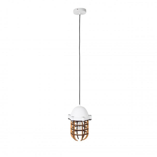 Luminaire suspension métal et bois Navigator Zuiver Blanc