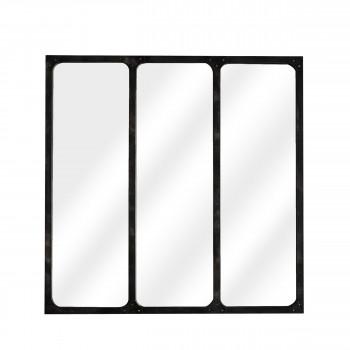 Miroir verrière métal 70x70 Lea