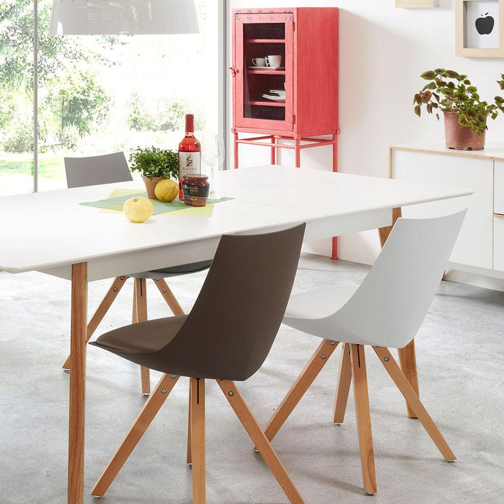 grande table manger d 39 inspiration nordique skoll par drawer. Black Bedroom Furniture Sets. Home Design Ideas