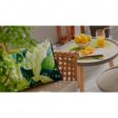 Table d'appoint ciment et bois indoor/outdoor Lizzie