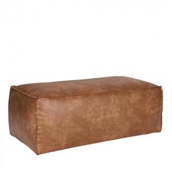 Pouf rectangulaire en éco-cuir Bronco