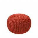 Pouf Tricot rouge
