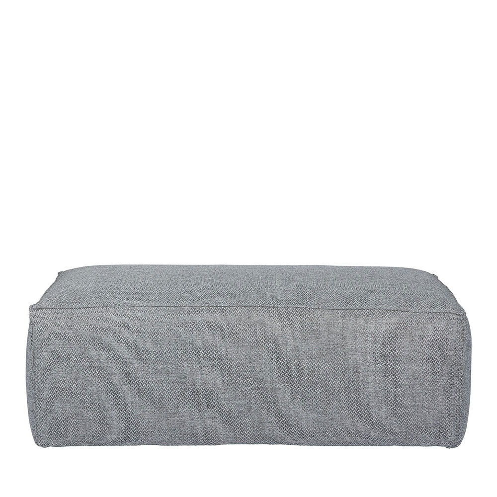 pouf rectangulaire tissu gris bean by drawer. Black Bedroom Furniture Sets. Home Design Ideas