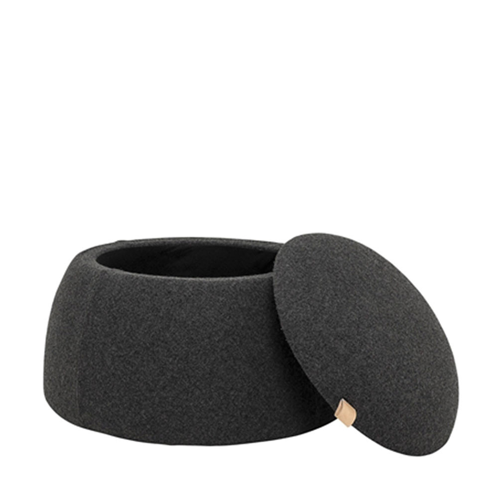 pouf laine avec rangement rock bloomingville. Black Bedroom Furniture Sets. Home Design Ideas
