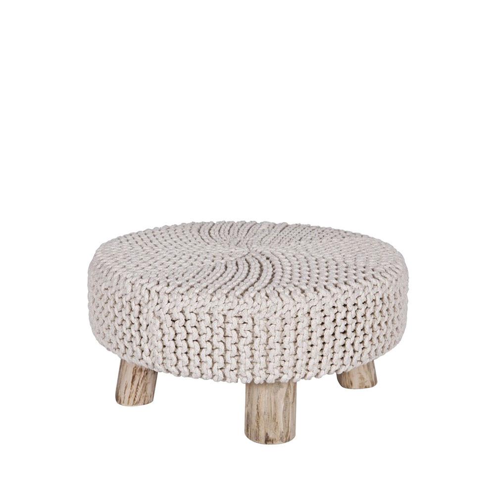 pouf rond en tricot 65 cm blooming par. Black Bedroom Furniture Sets. Home Design Ideas