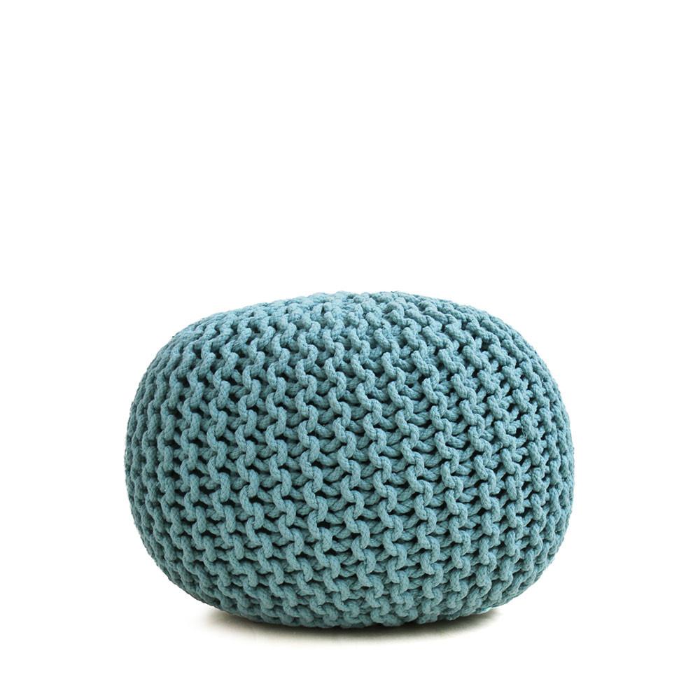 pouf tiss main en laine 50 cm samosa