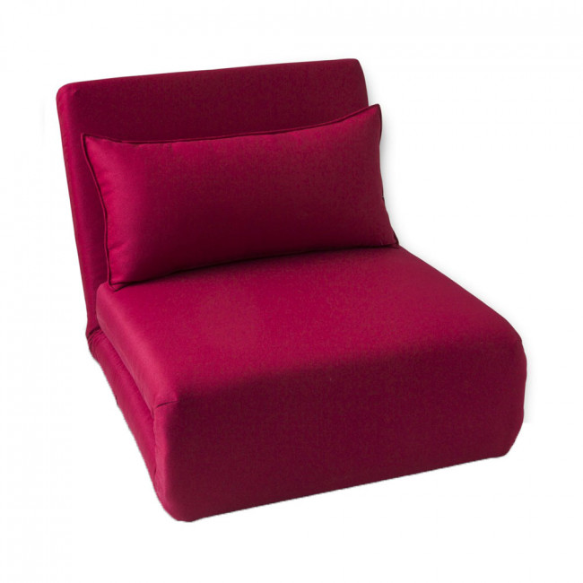 Chauffeuse convertible tissu rose Moa