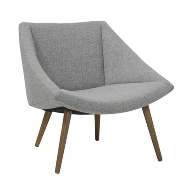 Fauteuil coton gris Elegant Bloomingville