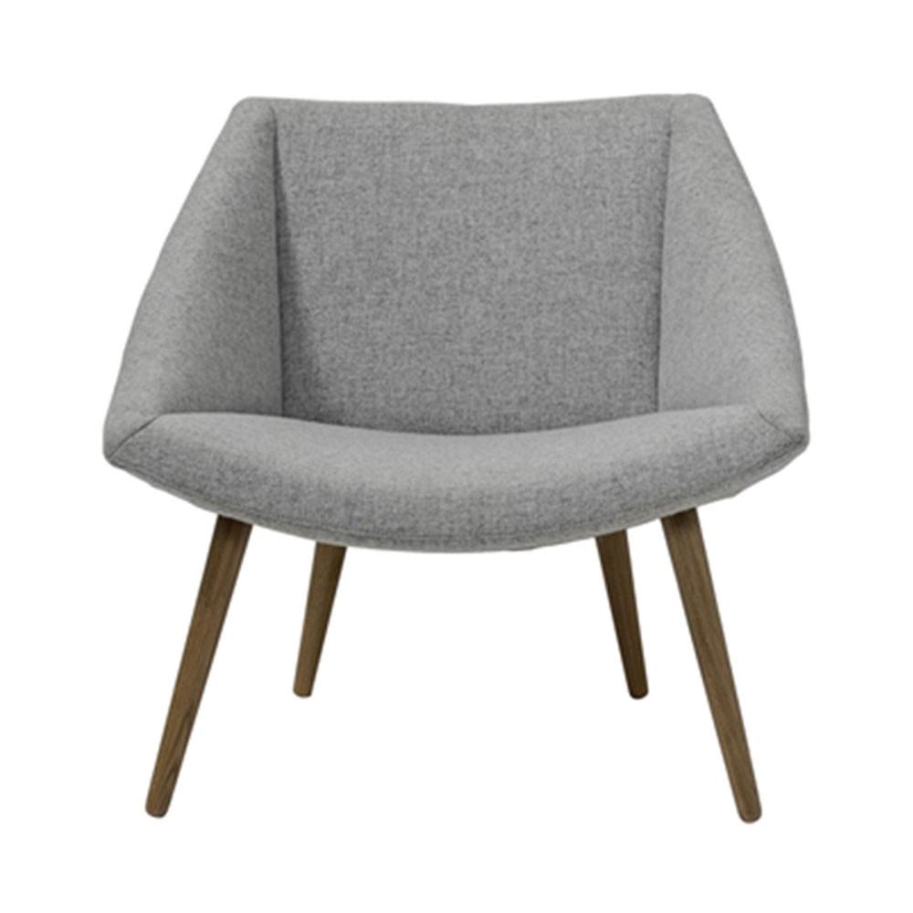 fauteuil tissu gris et pieds bois elegant bloomingville. Black Bedroom Furniture Sets. Home Design Ideas