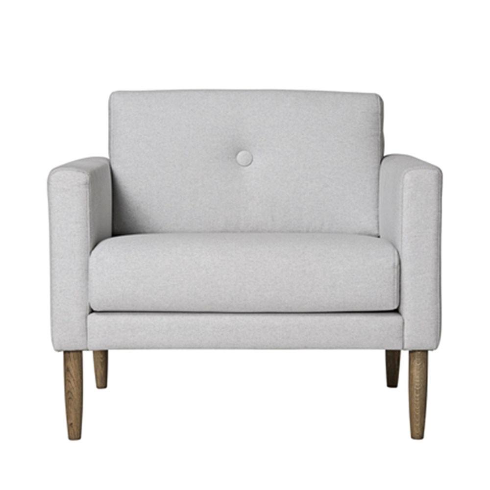 Fauteuil Design Gris : Fauteuil design tissu gris clair calm bloomingville