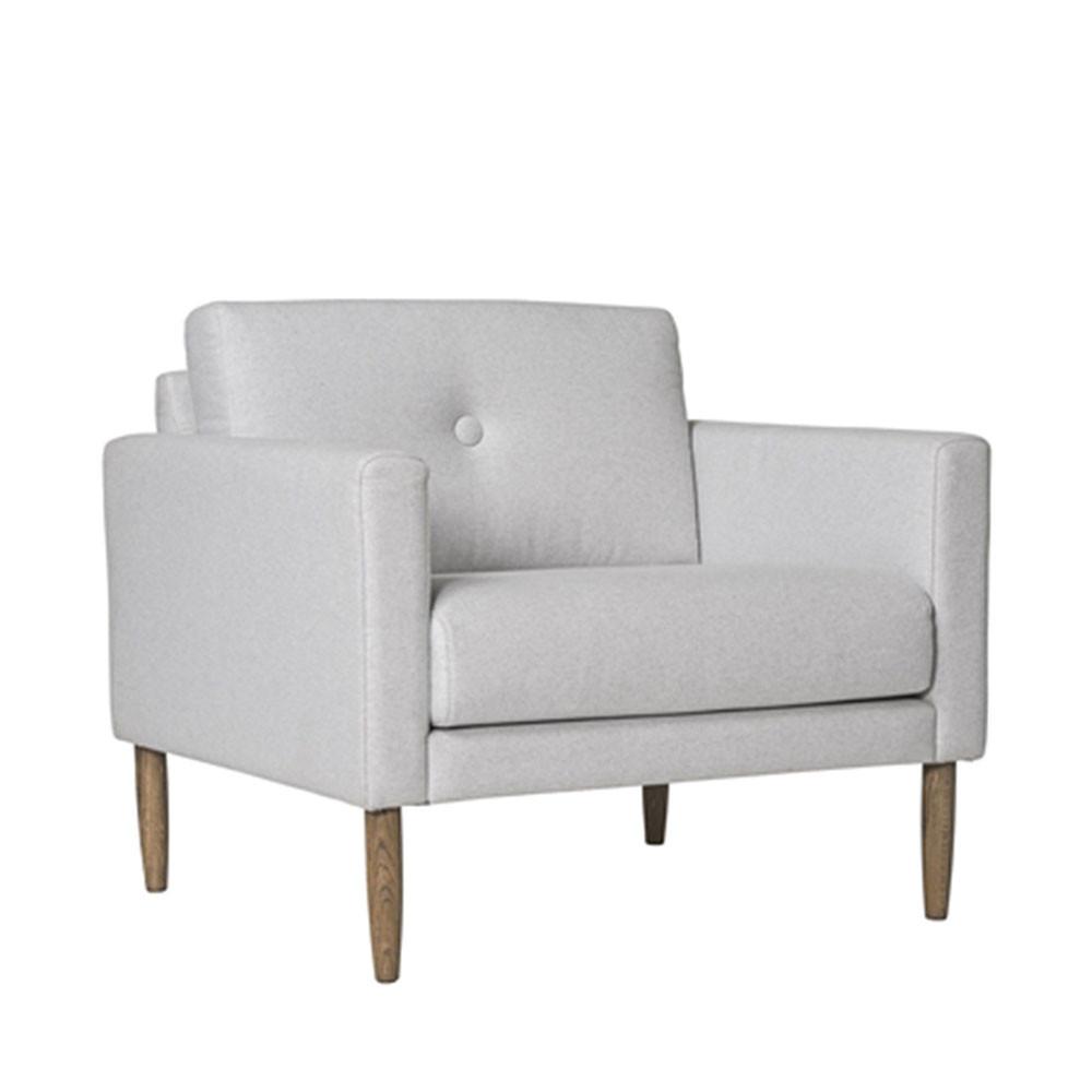 Fauteuil design tissu gris clair calm bloomingville - Tissu fauteuil design ...