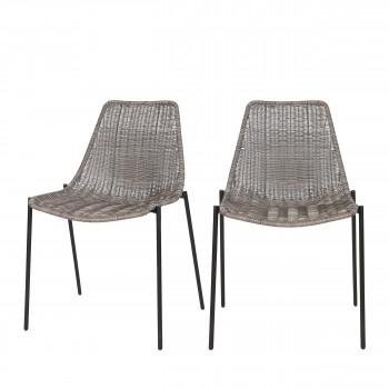 Lot de 2 chaises tressées Morris