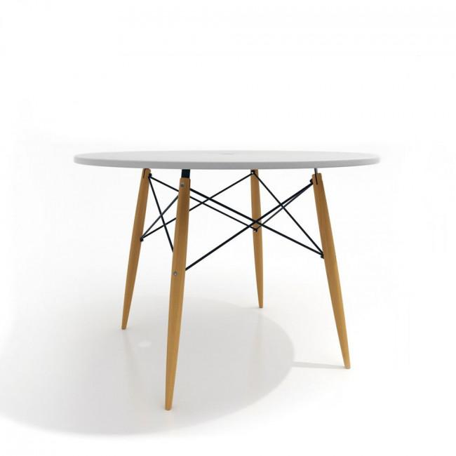 Table design ronde Skoll blanche