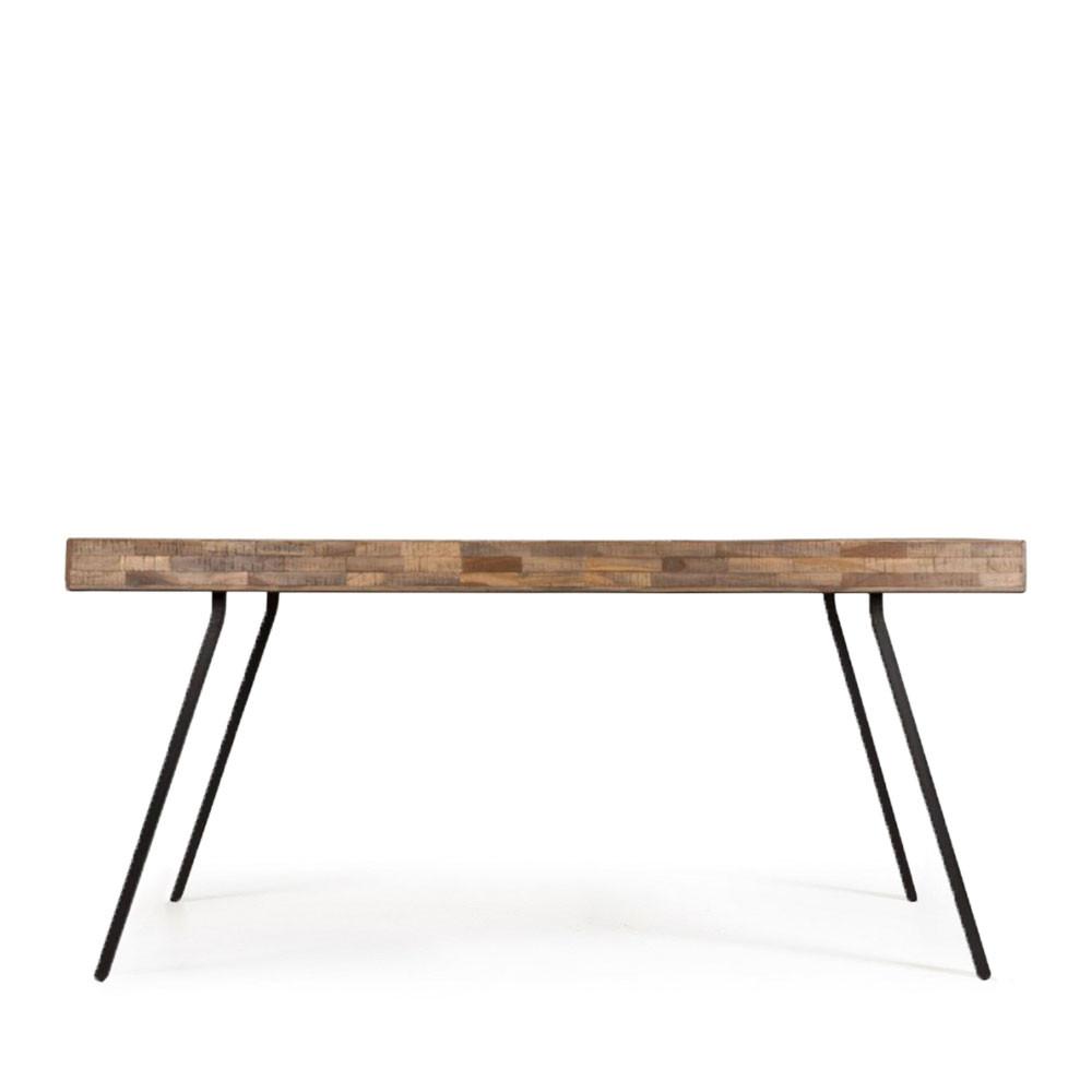 Table à manger en teck recyclé 160x78cm - SURI
