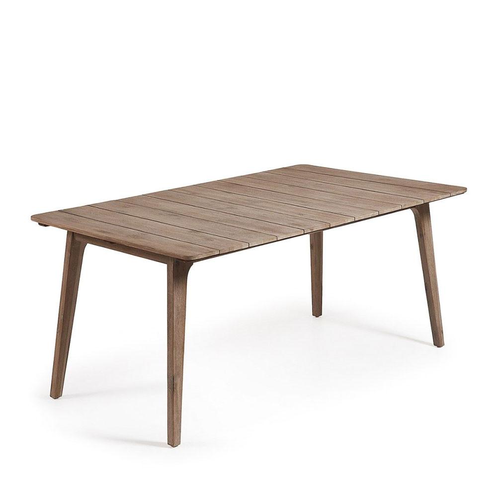 Table de jardin en bois d acacia id es de design maison - Table jardin acacia ...