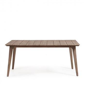 Table à manger de jardin en bois massif Kenart