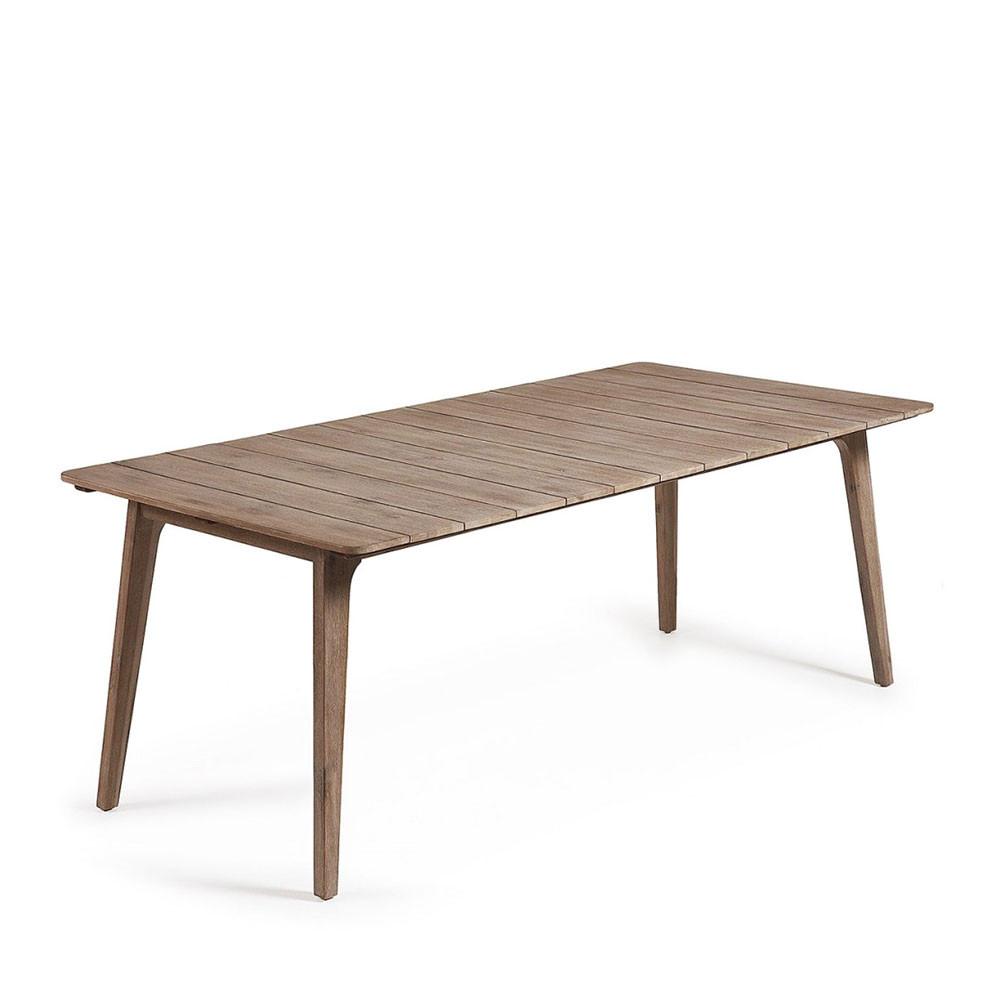 Table bois massif lyon for Table a manger avec rallonge pas cher